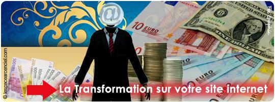 La Transformation sur Votre site Internet
