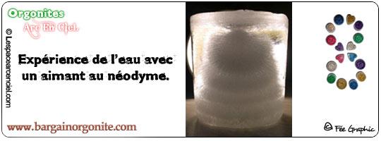 """Aimant au néodyme dans l'eau """"Glace"""" - Expérience N°2"""