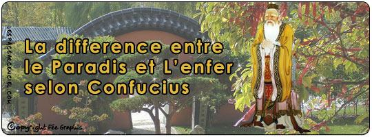 La Différence entre l'enfer et le Paradis Selon Confucius